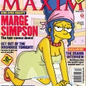 Marge Simpson en la revista Maxim