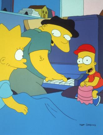 Imagen promocional temporada 3 de Los Simpson: Papá, Loco De Atar