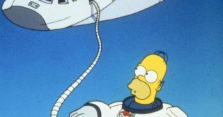 Homer En El Espacio Exterior