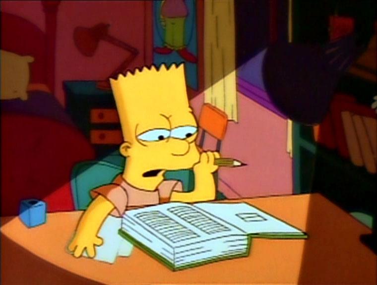 """Los Simpson, episodio: """"Bart En Suspenso"""""""