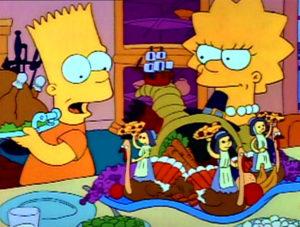 Bart En El Día De Acción De Gracias