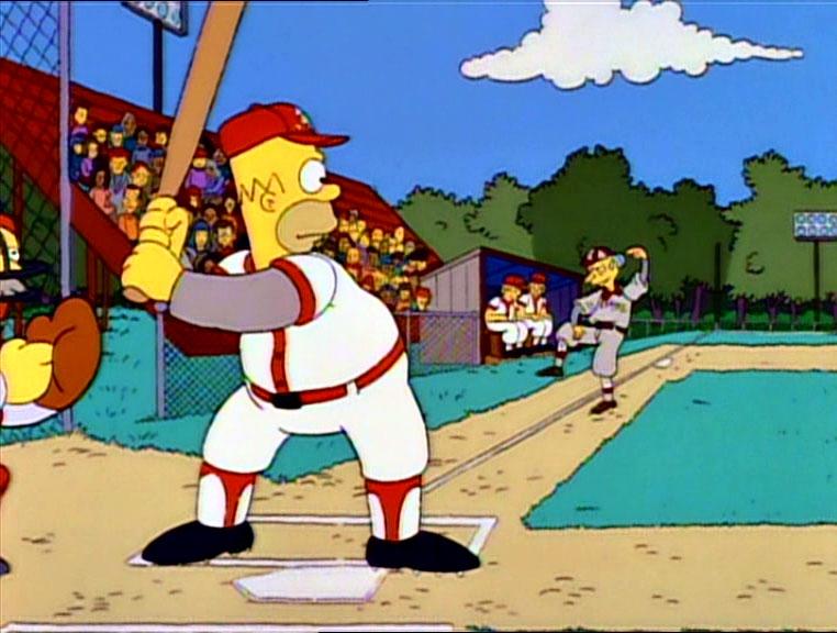 Los Simpson - Temporada 3 - Homer, Bateador