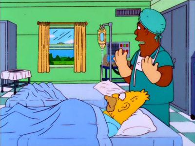 Homer Simpson En: 'Problemas De Riñón'