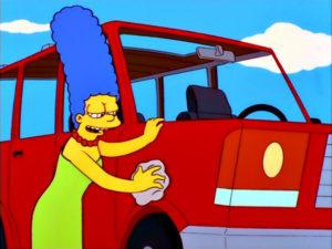 Marge Simpson En: 'Cólera Al Volante'