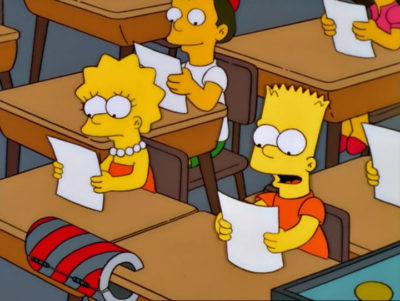 Bart Contra Lisa Contra Tercero De Primaria
