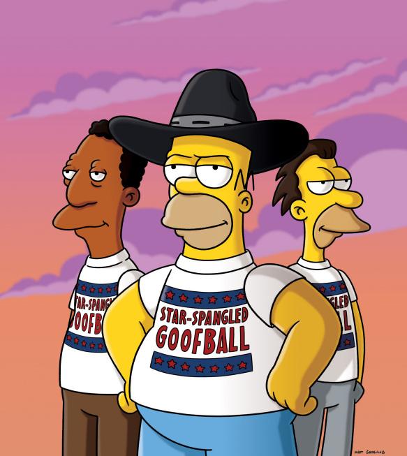 """Imagen promocional de la temporada 20 de Los Simpson: """"Nos Vamos A Homerica"""""""