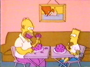 Bart And Dad Eat Dinner