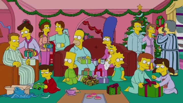 """Los Simpson, episodio: """"El Blues De La Blanca Navidad"""""""