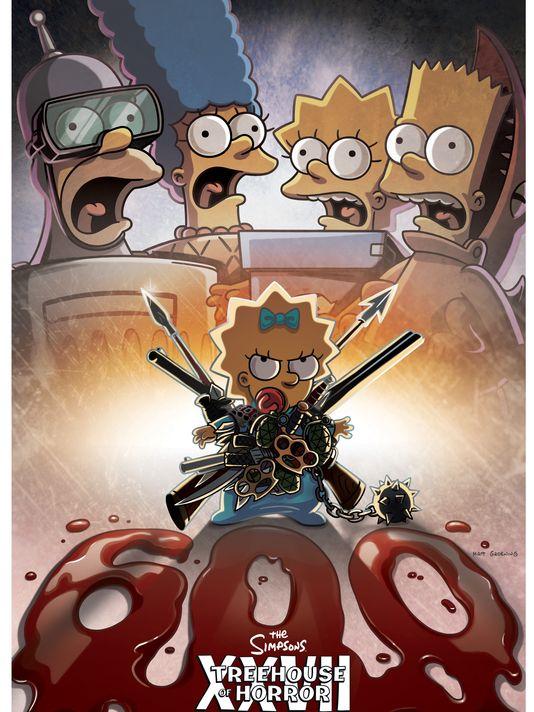"""Imagen promocional de la temporada 28 de Los Simpson: """"Treehouse Of Horror XXVII"""""""