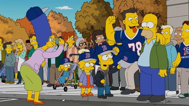 """Imagen promocional de la temporada 28 de Los Simpson: """"The Town""""."""