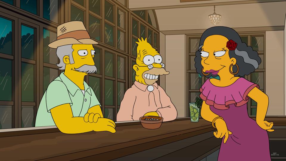 """Imagen promocional de la temporada 28 de Los Simpson: """"Havana Wild Weekend"""""""