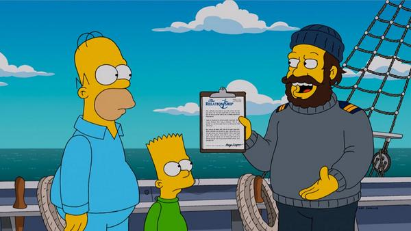 "Imagen promocional de la temporada 26 de Los Simpson: ""The Wreck Of The Relationship"""
