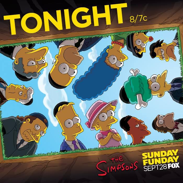 """Imagen promocional temporada 26 de Los Simpson: """"Clown In The Dumps"""""""
