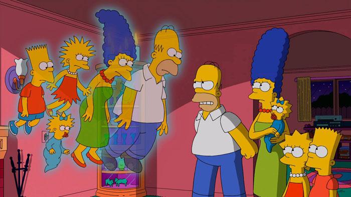 """Imagen promocional de la temporada 26 de Los Simpson: """"La Casa-Árbol Del Terror XXV"""""""