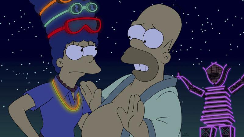 """Imagen promocional de Los Simpson, temporada 26: """"Blazed And Confused"""""""