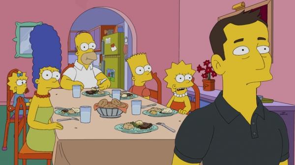 """Imagen promocional temporada 26 de Los Simpson: """"The Musk Who Fell To Earth"""""""