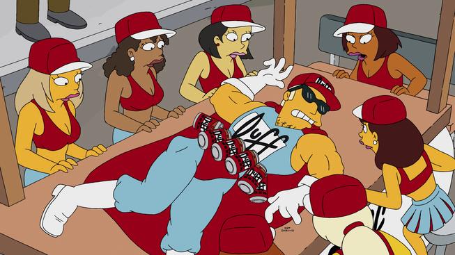 """Imagen promocional de la temporada 26 de Los Simpson: """"Waiting For Duffman"""""""