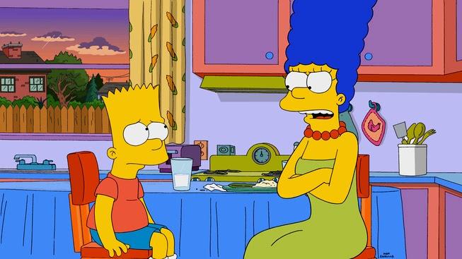 """Imagen promocional de la temporada 26 de Los Simpson: """"Peeping Mom"""""""