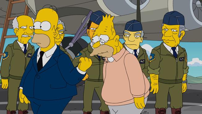 """Imagen promocional de la temporada 26 de Los Simpson: """"Let's Go Fly A Coot"""""""