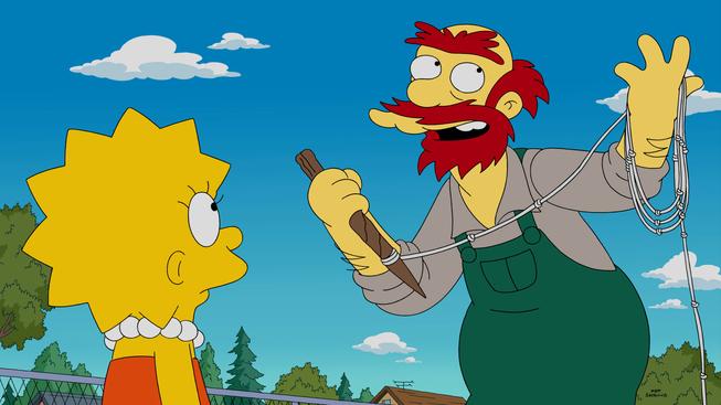 """Imagen promocional de la temporada 26 de Los Simpson: """"Mathlete's Feat"""""""