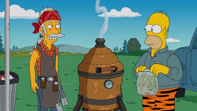 """Imagen promocional de la temporada 27 de Los Simpson: """"'Cue Detective"""""""