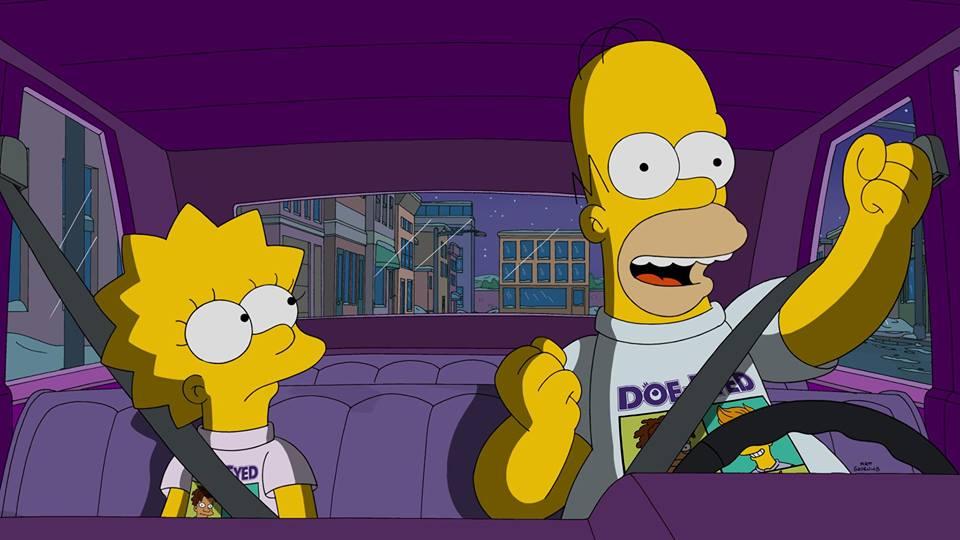 """Imagen promocional de la temporada 27 de Los Simpson: """"Friend With Benefit"""""""