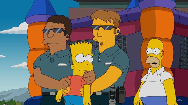 """Imagen promocional de la temporada 27 de Los Simpson: """"'Paths of Glory""""."""