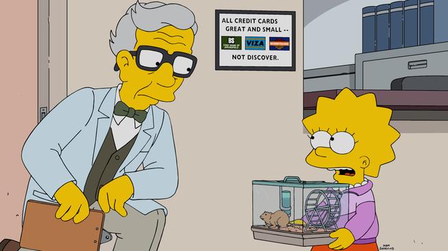 """Imagen promocional de la temporada 27 de Los Simpson: """"Lisa The Veterinarian"""""""