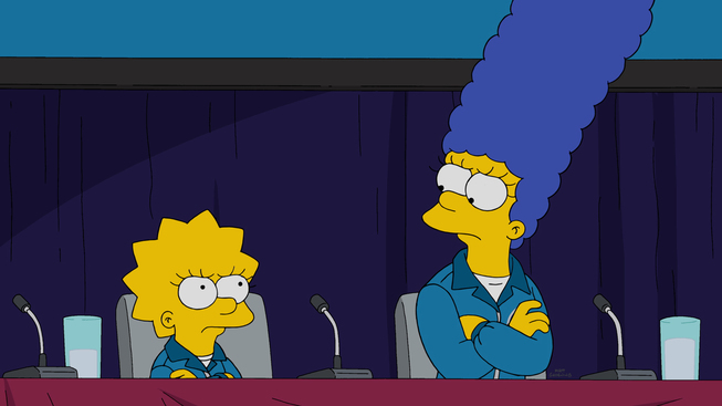 "Imagen promocional de la temporada 27 de Los Simpson: ""The Marge-ian Chronicles"""