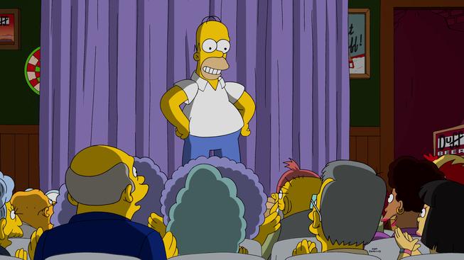 """Imagen promocional de la temporada 27 de Los Simpson: """"Simprovised""""."""