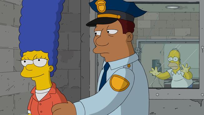 """Imagen promocional de la temporada 27 de Los Simpson: """"Orange Is The New Yellow"""""""
