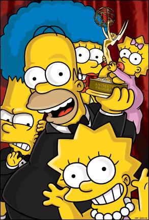 Los Simpson con un Emmy