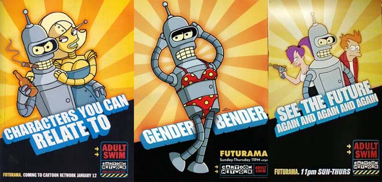 Anuncios de Futurama en Cartoon Network