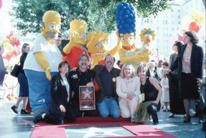 La estrella de Los Simpson en el Paseo de la Fama de Hollywood