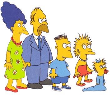 El aspecto de los Simpson en los primeros cortos de The Tracey Ullman Show