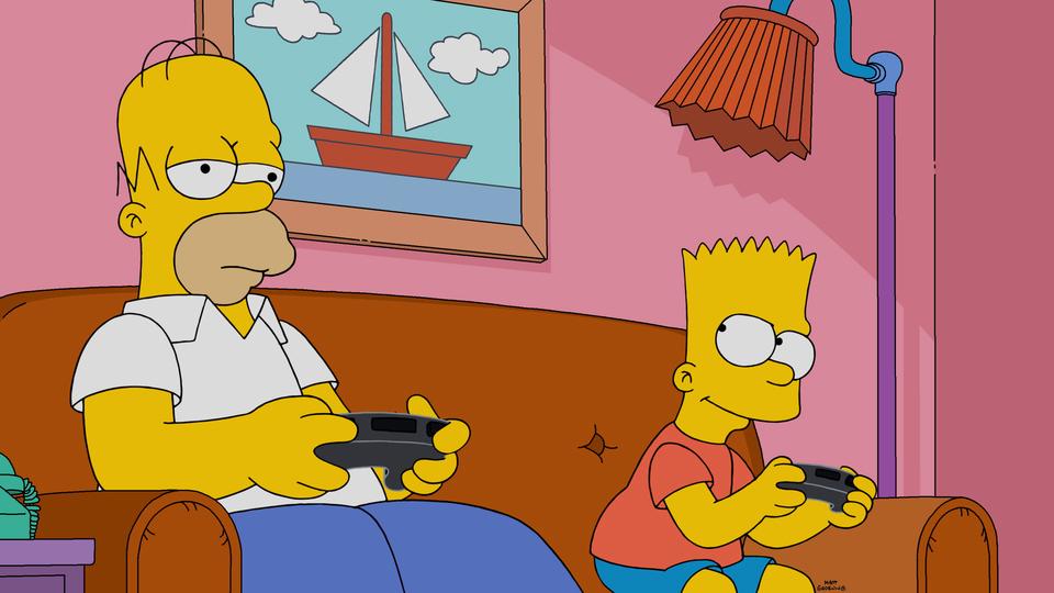 """Imagen promocional de la temporada 28 de Los Simpson: """"Dad Behavior"""""""