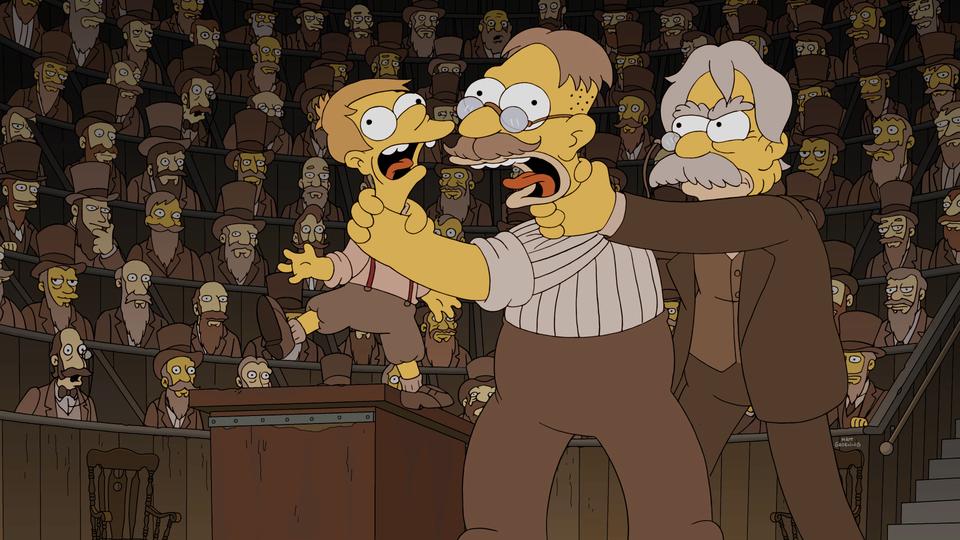 """Imagen promocional de la temporada 28 de Los Simpson: """"A Father's Watch"""""""