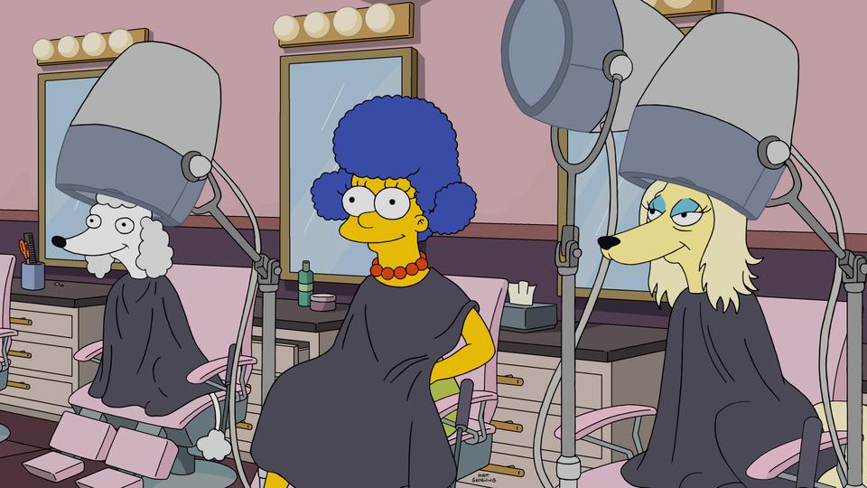 """Imagen promocional de la temporada 28 de Los Simpson: """"Dogtown""""."""