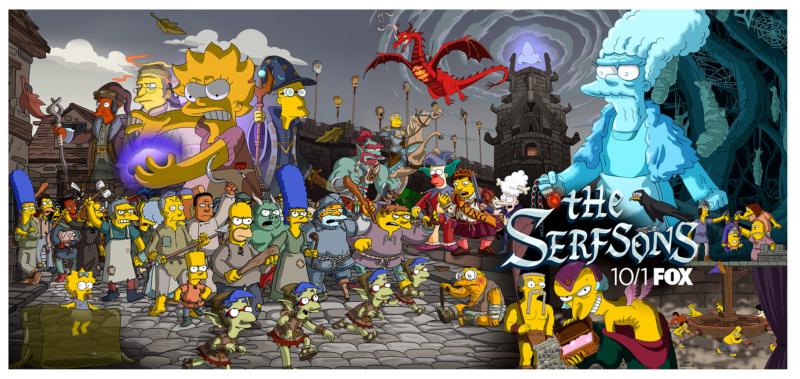 """Imagen promocional de la temporada 29 de Los Simpson: """"The Serfsons"""""""