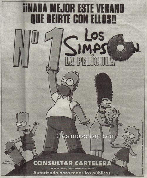 Los Simpson, La Película: Nº1 en taquillas