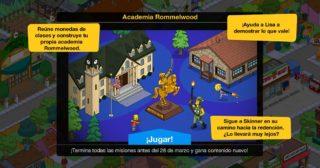 Nuevo minievento en Los Simpson: Springfield - Academia Rommelwood