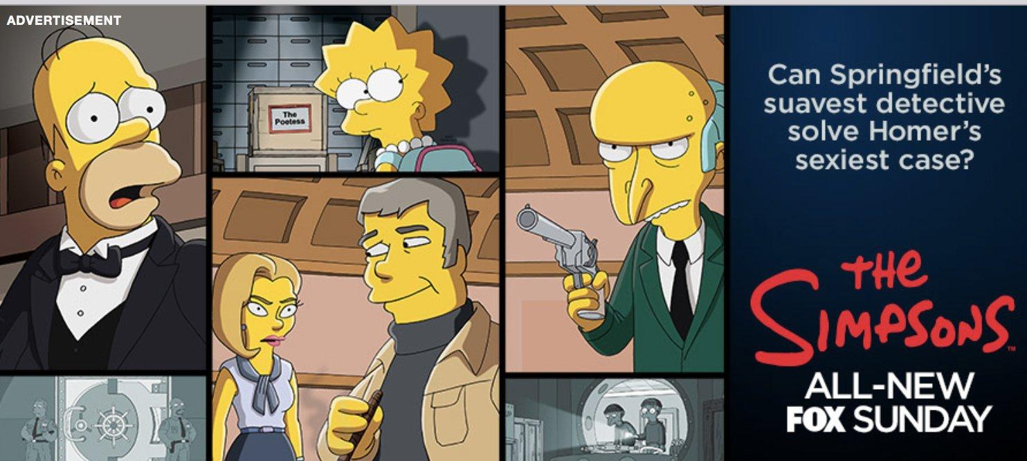 """Imagen promocional de la temporada 29 de Los Simpson: """"Homer Is Where The Art Isn't"""""""