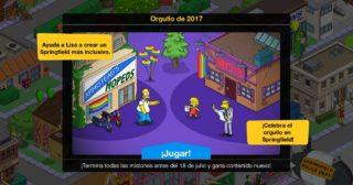 Nuevo minievento en Los Simpson: Springfield - Orgullo de 2017