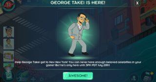 Nuevo minievento en Futurama: Mundos del Mañana - The George Takei Experience