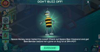 Nuevo minievento en Futurama: Mundos del Mañana - Space Bee Weekend