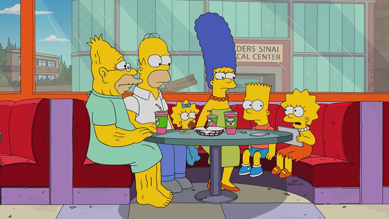 """Imagen promocional de la temporada 29 de Los Simpson: """"Throw Grampa From The Dane""""."""