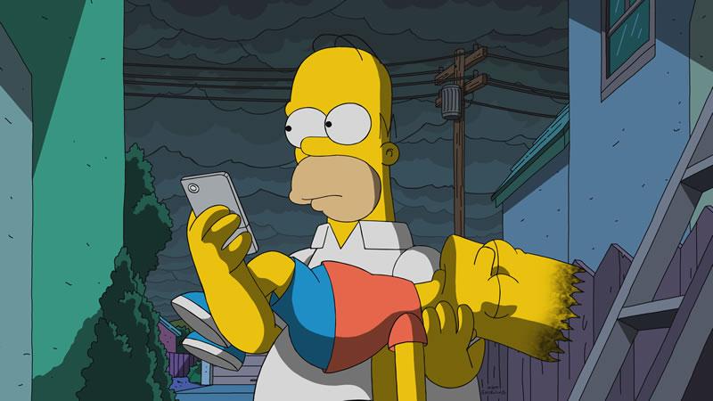 """Imagen promocional de Los Simpson: """"Flanders' Ladder""""."""