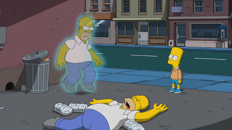 """Imagen promocional de la temporada 29 de Los Simpson: """"Flanders' Ladder""""."""