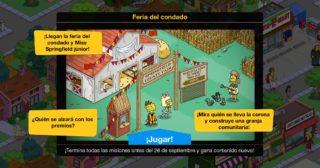 Nuevo minievento en Los Simpson: Springfield - Feria del condado
