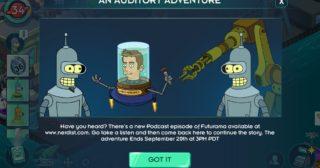 Nuevo minievento en Futurama: Mundos del Mañana - An Auditory Adventure
